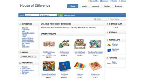 web store layout design toy store web design yorkshire internet marketing