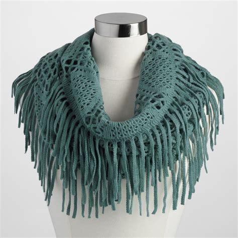 Fringe Scarf green fringe infinity scarf world market
