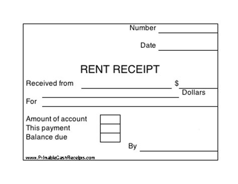 blank rent receipt form photo printable receipts for payment images