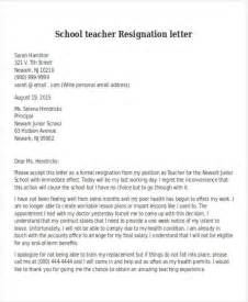 Resignation Letter Sle Because Of School 27 Resignation Letter Format Free Premium Templates