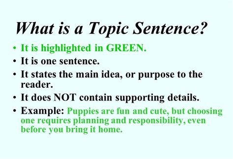 How To Make A Topic Sentence For A Research Paper - how to write a topic sentence for an essay