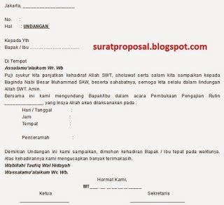 contoh surat undangan pengajian contoh surat untuk lamaran