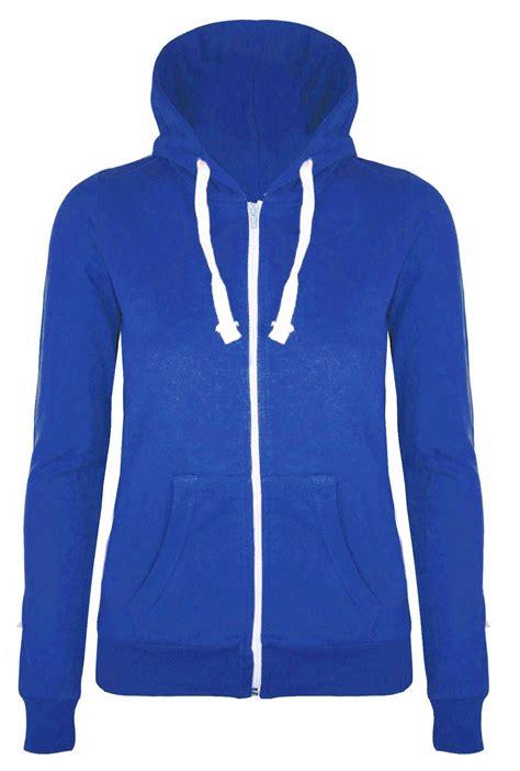 plain light blue hoodie womens ladies plain hoodie fleece sweatshirt hooded coat