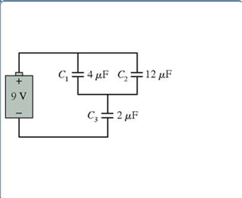 how to find potential difference across a capacitor in series what are the charge on and the potential differenc chegg