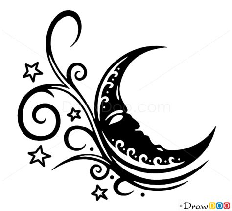 tattoo pictures to draw how to draw moon tattoo designs