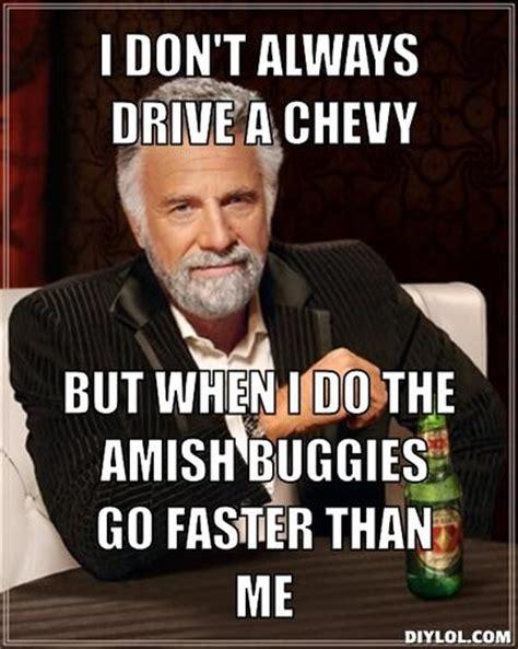 amish buggies  faster   meme  mustang source