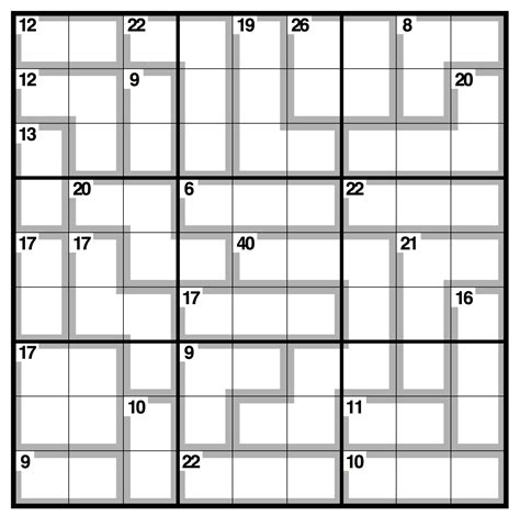 printable killer sudoku puzzles related keywords suggestions for killer sudoku