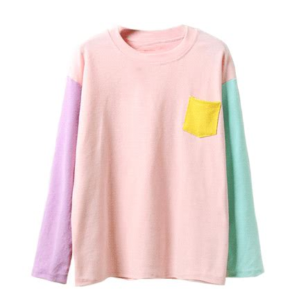 Sleeve Color Block Shirt pastel color block sleeve shirt on storenvy