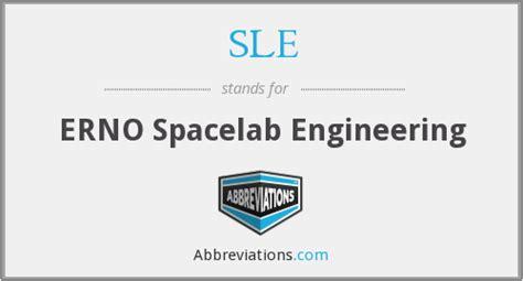 sle erno spacelab engineering