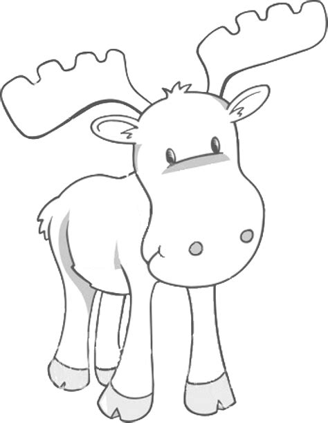 moose template free printable moose coloring pages for