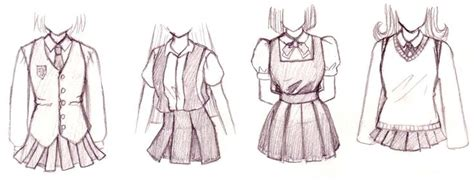 Sqksyvp Dress Motif Kartun Dress Shirt Dress Blouse Atasan Panjang how to draw anime aside from the common sailor there are other uniforms as