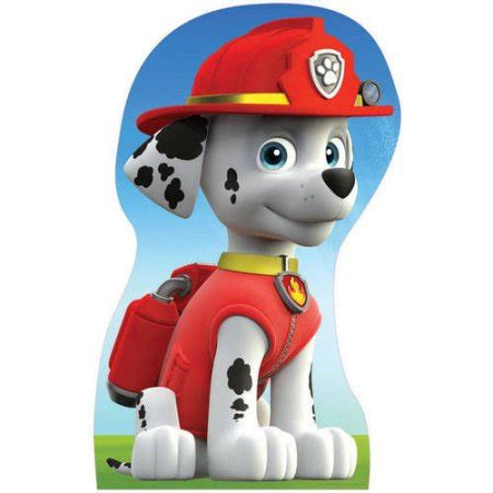paw patrol characters paw patrol marshall and paw patrol badge paw patrol marshall standee walmart com