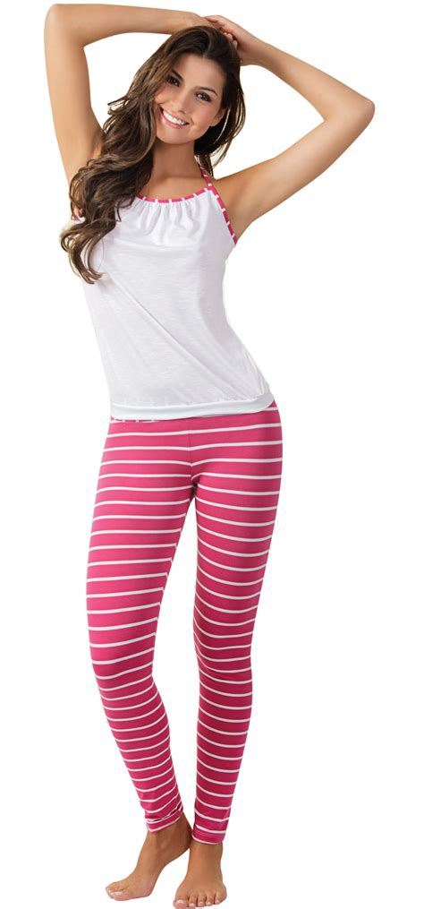 White Set Topleggings Ll663 arango s pajamas set wrinkled top stripes 8153 ebay