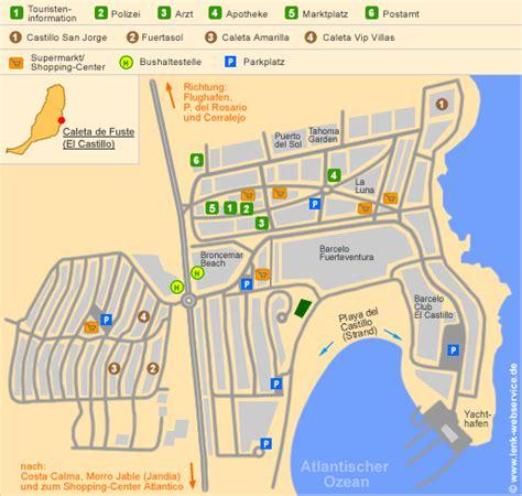 printable road map fuerteventura caleta de fuste on fuerteventura topography including