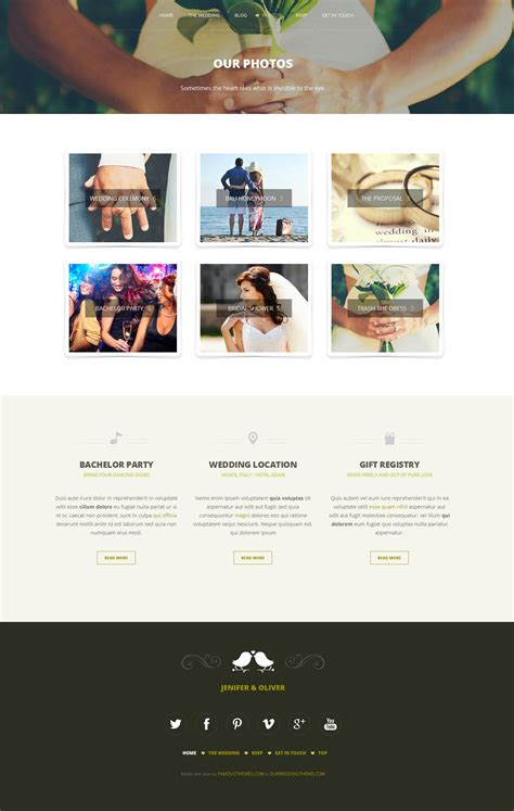 Wedding Bell Template by Wedding Bells Responsive Wedding Template By