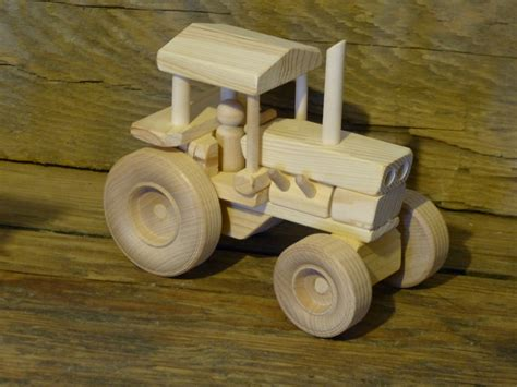 Wooden Toys Handmade - handmade wood farm tractor wooden toys childs boys