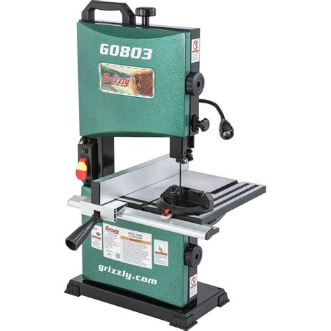 bench band saw new grizzly g0803 9 inch bandsaw tool craze