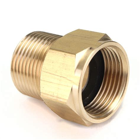 washer hose adapter m22 brass pressure washer adapter male to female hose