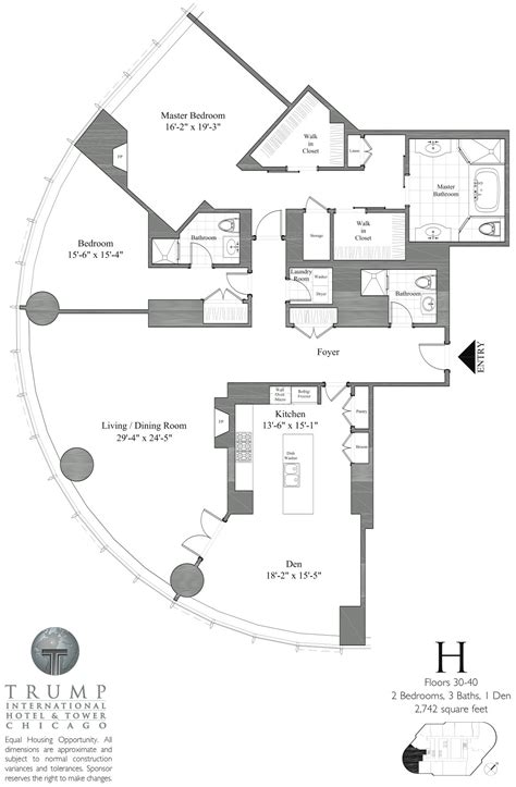 trump tower chicago floor plans trump tower chicago 401 n wabash floor plans views