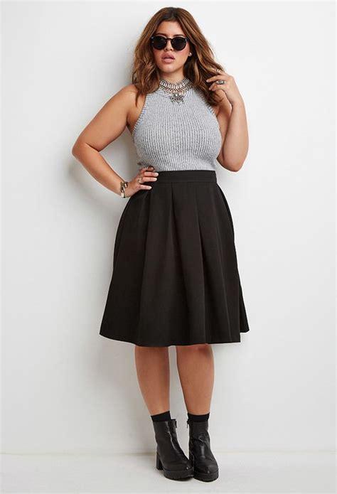 plus size pleated midi skirt date