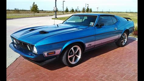 1973 ford mustang sportsroof fastback mach 1 burnt orange for sale used cars for sale 1973 ford mustang sportsroof fastback mach 1 tribute 351c automatic medium silver blue metallic