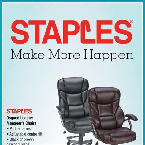 Staples Big Chair Event by Staples Weekly Flyer Big Chair Event Oct 26 Nov 8