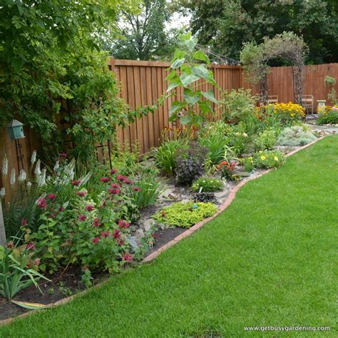 fenced backyard landscaping ideas backyard fence garden pinterest