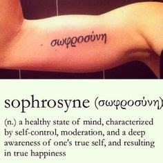 sophrosyne tattoo sophrosyne in symbol my and im