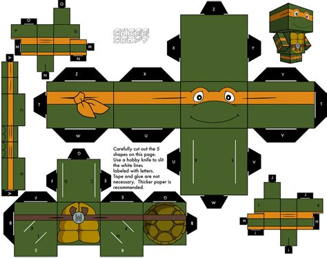 Papercraft Cubeecraft - 1988 michelangelo by cubeecraft on deviantart