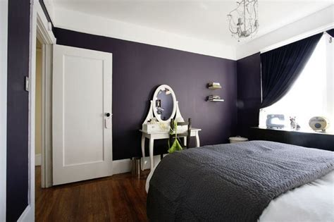 bedroom ideas for long rooms dark purple and black bedroom ideas white wall paint