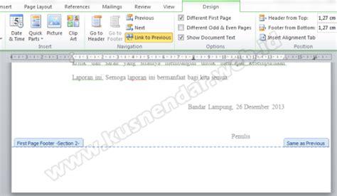 cara membuat halaman romawi di word 2013 cara membuat nomor halaman berbeda beda di word dalam satu