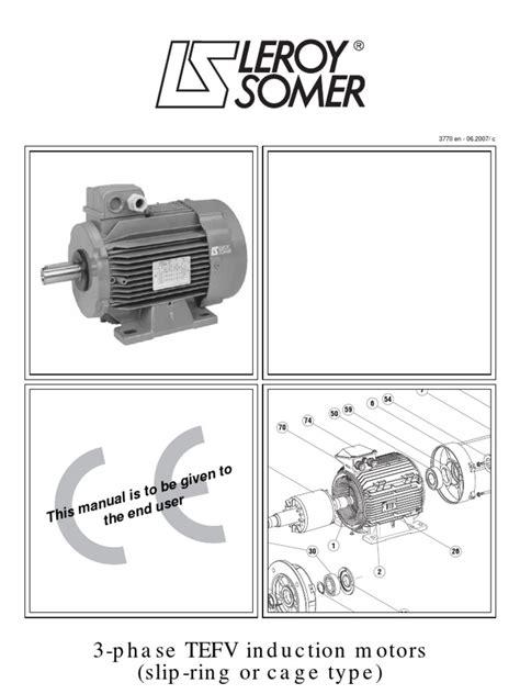 three phase induction motor in pdf 3 phase tefv induction motors