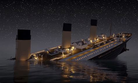real pictures of the titanic sinking watch the titanic in this real time video highsnobiety