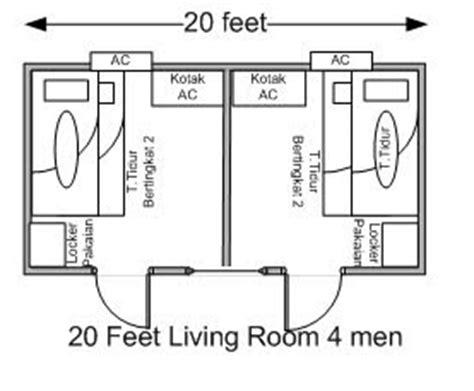 JOHAN CONTAINER: contoh desain portacamp 20 feet