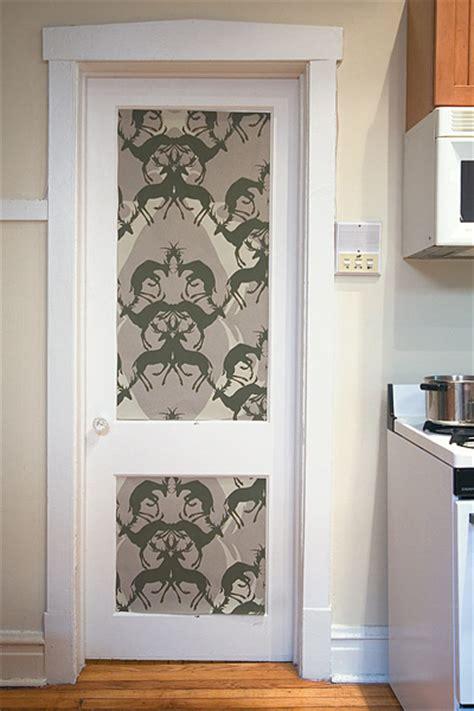10 Ideas Of Doors Decoration With Wallpapers Wallpaper Closet Doors