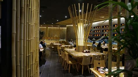 interesting decorative items for home images of dining bamboo restaurant design for japanese concept with unique