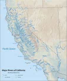 map of rivers in california river map california