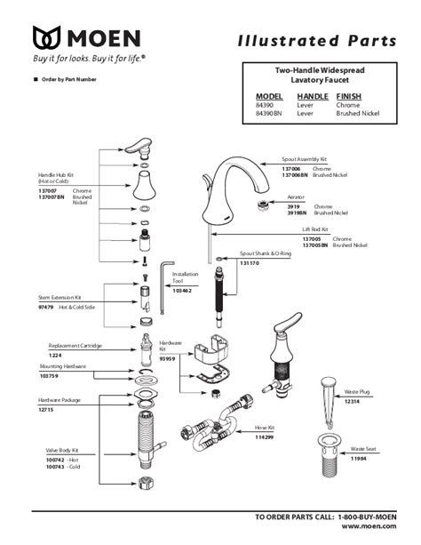 moen bathroom faucet parts diagram moen faucet parts diagram images