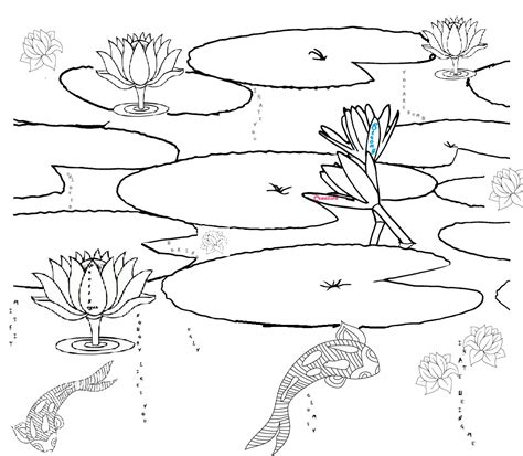 fish habitat coloring pages lily pond clipart 19