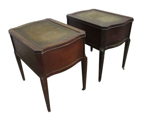 antique side tables for living room leather top side table with drawers olde good things