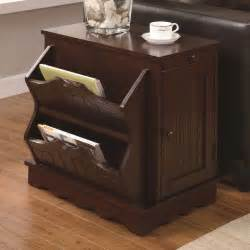 Ideas For Chairside Tables Design A Modern Chairside Table With Magazine Rack And Drawer Knowledgebase