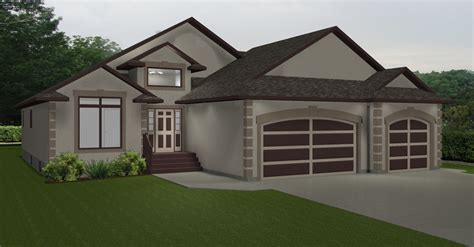 Bungalows Plans 40 60 Ft Wide By E Designs 9 Bungalow 2 Car Garage House Plans