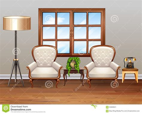 armchairs for living room living room with luxury armchairs stock vector image