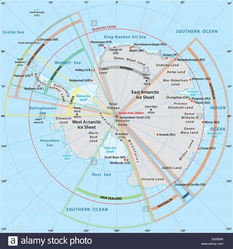 map of antarctica political map of antarctica with the territory claims
