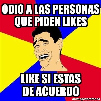 Memes De Like - meme yao ming odio a las personas que piden likes like
