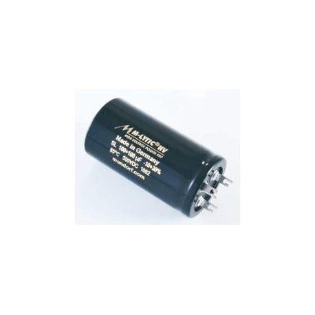 hv capacitor capacitor mundorf mlytic hv power cap 100 100uf 500vdc 85c 3pin mlsl500 100 100 fidelity