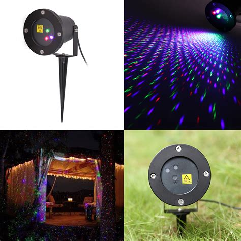 rgb firefly shower laser light moving projector lawn