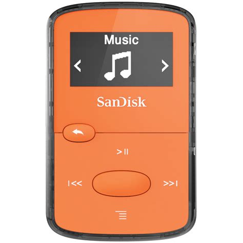 gb mp player sandisk 8gb clip jam mp3 player orange sdmx26 008g g46o b h