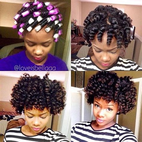 double stranded rods hairstyle 1000 images about natural hair roller set on pinterest