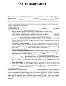 Sales Contract Agreement Template by 5 Sales Agreement Slereport Template Document Report